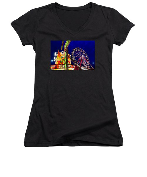 Ferris Wheel Women's V-Neck