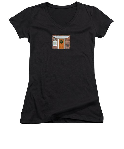 Adventure Suites Hotel Festive Post Office Women's V-Neck (Athletic Fit)