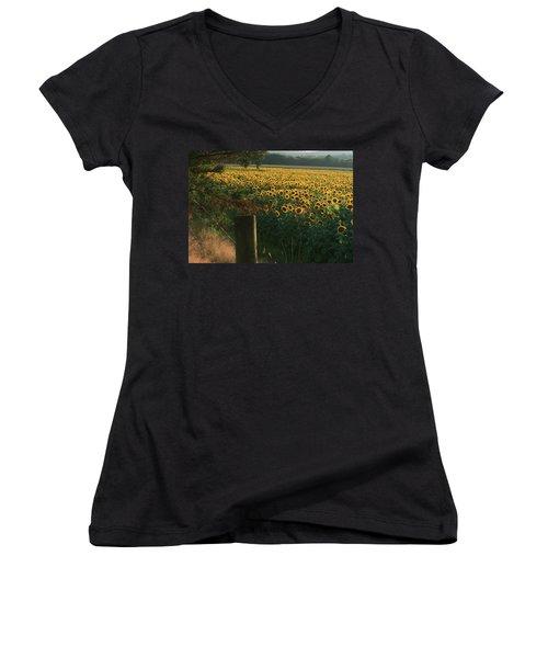 Field Dreams No.2 Women's V-Neck T-Shirt