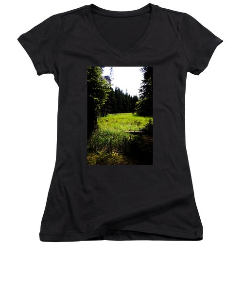 Field Of Possibilities Women's V-Neck (Athletic Fit)