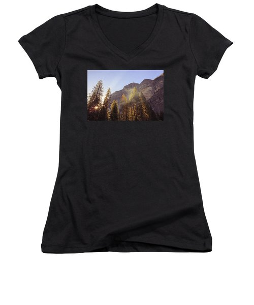Morning Skies Of Yosemite Women's V-Neck