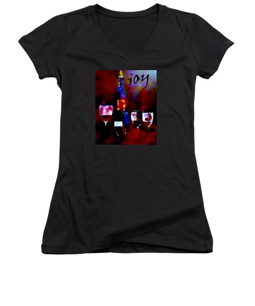 Women's V-Neck T-Shirt (Junior Cut) featuring the painting Fine Art Dusty Treasure by Lisa Kaiser