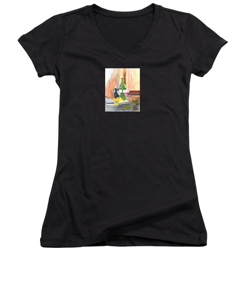 Fine Vintage Women's V-Neck T-Shirt (Junior Cut) by Elvira Ingram