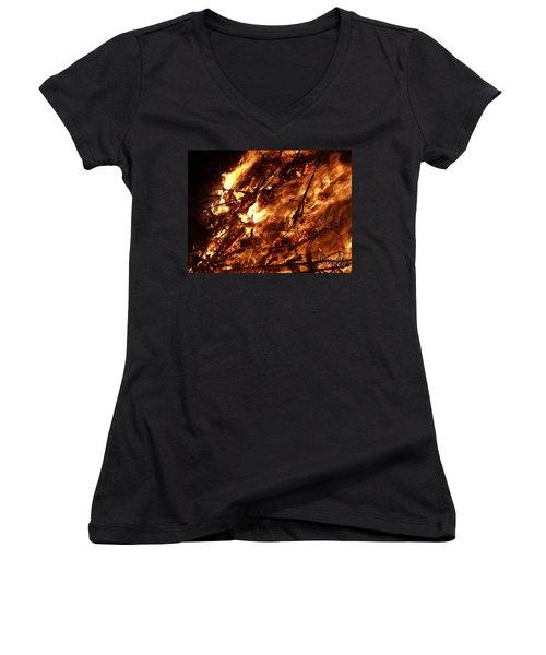 Fire Blaze Women's V-Neck (Athletic Fit)