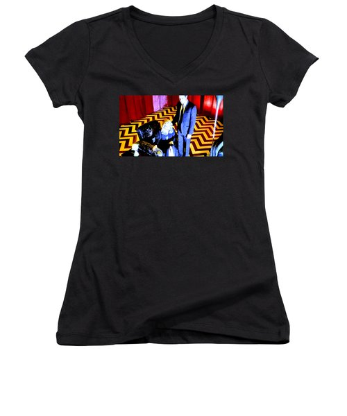 Fire Walk With Me Women's V-Neck T-Shirt