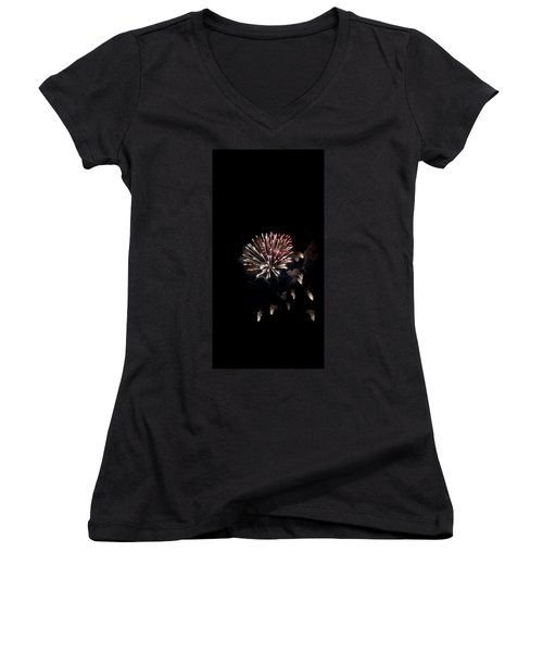 Fireworks At Night Women's V-Neck (Athletic Fit)