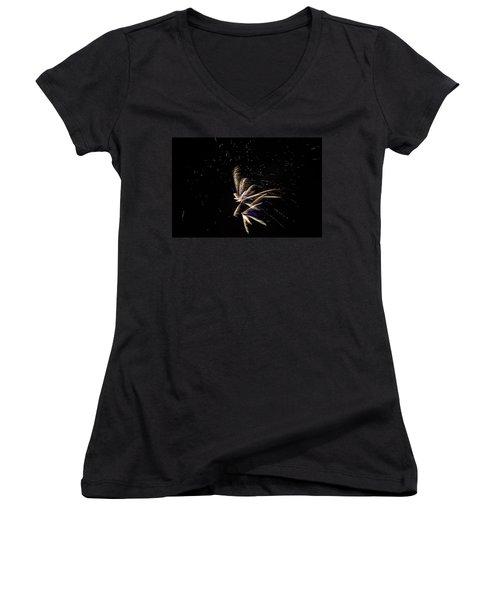 Fireworks - Dragonflies In The Stars Women's V-Neck