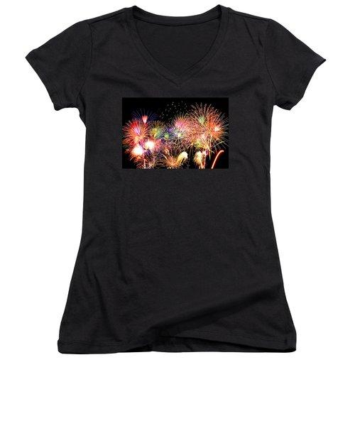 Fireworks Finale Women's V-Neck T-Shirt