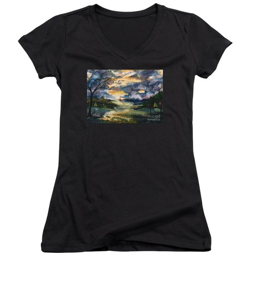 First One Out Of The Cove  Women's V-Neck