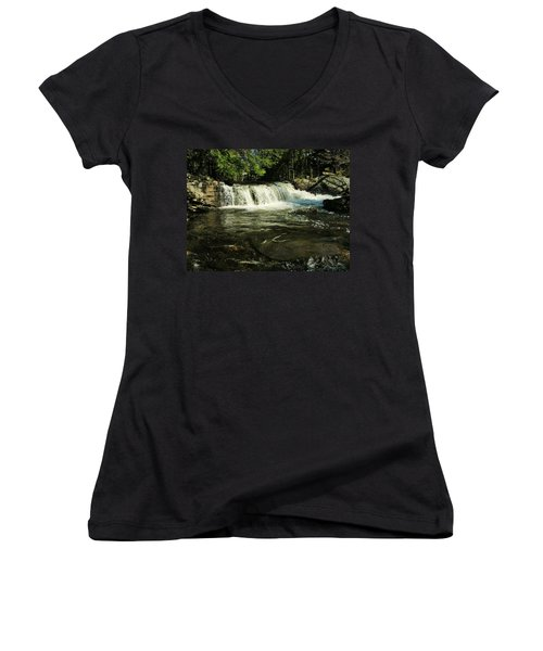 Women's V-Neck T-Shirt (Junior Cut) featuring the photograph Fishing Hole by Sherman Perry