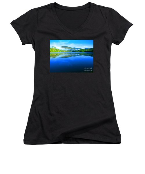 Fishing Spot 5 Women's V-Neck T-Shirt (Junior Cut) by Greg Patzer
