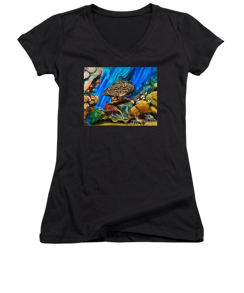 Fishtank Women's V-Neck T-Shirt