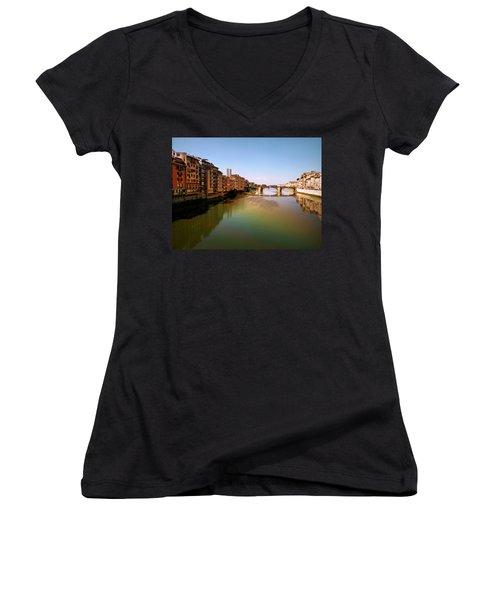 Fiume Di Sogni Women's V-Neck T-Shirt (Junior Cut) by Micki Findlay