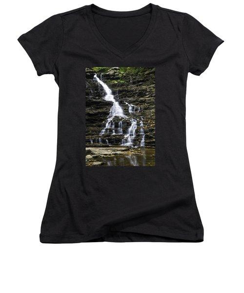 Fl Ricketts Falls Women's V-Neck T-Shirt (Junior Cut)