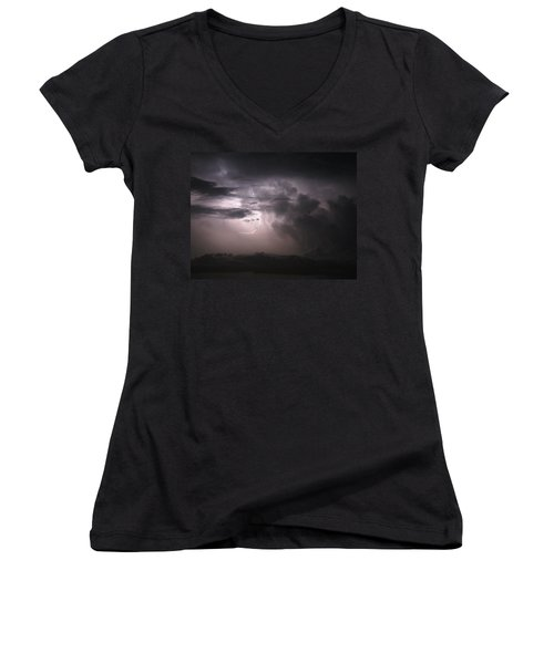Flashes Of Lightening Women's V-Neck T-Shirt