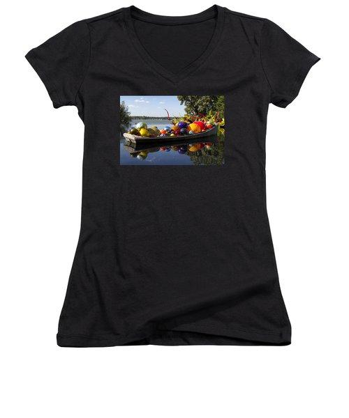 Float Boat Women's V-Neck T-Shirt