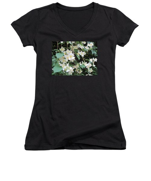 Floral Cascade Women's V-Neck (Athletic Fit)