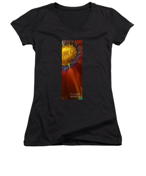 Women's V-Neck T-Shirt (Junior Cut) featuring the photograph Flower by Andy Prendy