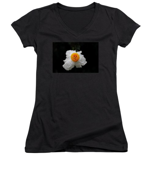 Flower Sunny Side Up Women's V-Neck T-Shirt