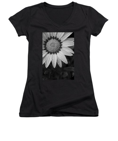 Flower Water Droplets Women's V-Neck (Athletic Fit)