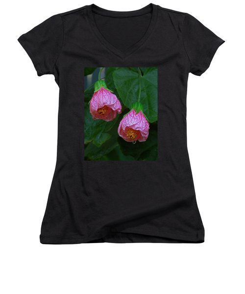 Flowering Maple Women's V-Neck T-Shirt