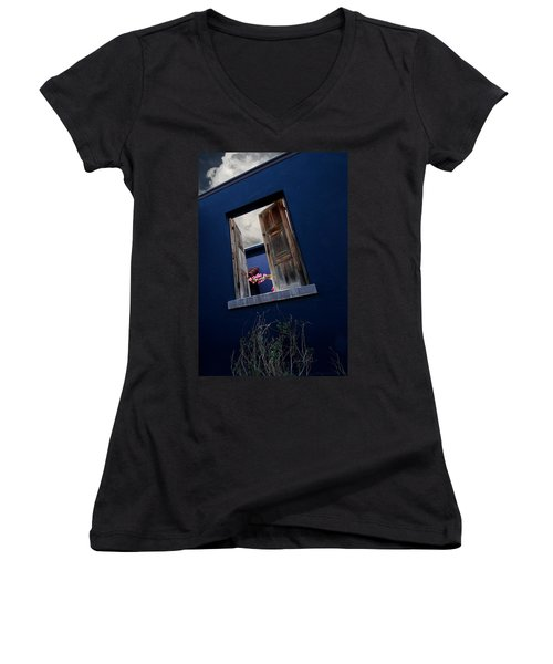 Flowers In The Presidio Women's V-Neck (Athletic Fit)