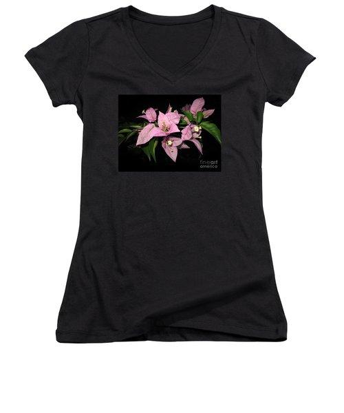 Women's V-Neck T-Shirt (Junior Cut) featuring the photograph Flowers Island Lembongan by Sergey Lukashin