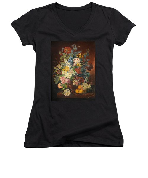 Flowers Of Light Women's V-Neck (Athletic Fit)