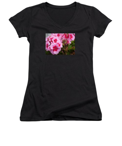 Flowers On A Rainy Sunday Afternoon Women's V-Neck