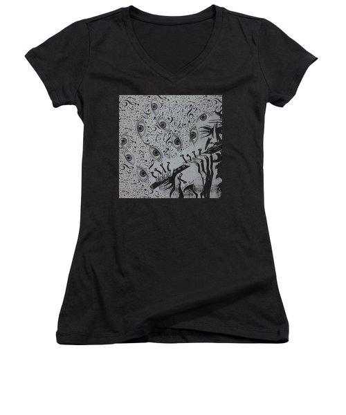 Flute Concerto In Eye Minor Women's V-Neck T-Shirt