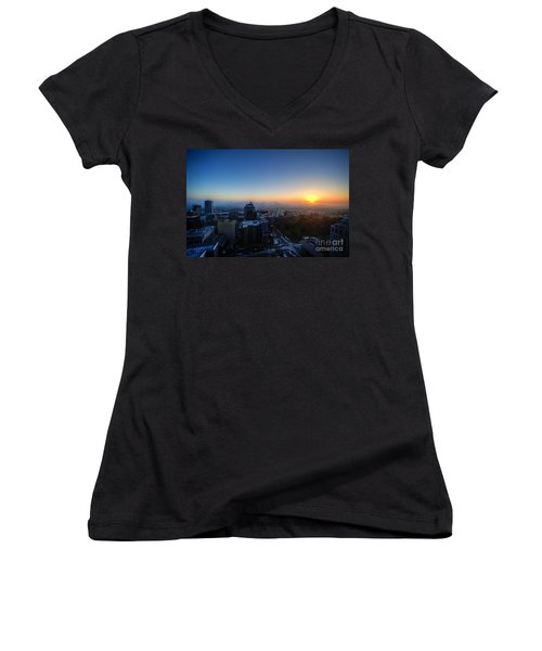 Foggy Sunset Women's V-Neck