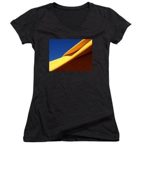 Fold Women's V-Neck T-Shirt (Junior Cut) by David Pantuso