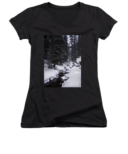 Follow The Creek Women's V-Neck (Athletic Fit)