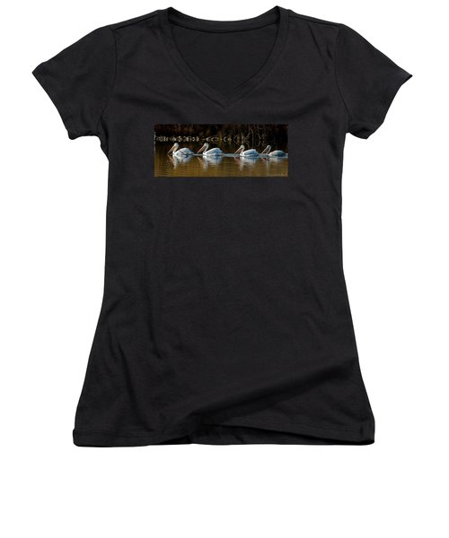 Follow The Leader Women's V-Neck T-Shirt