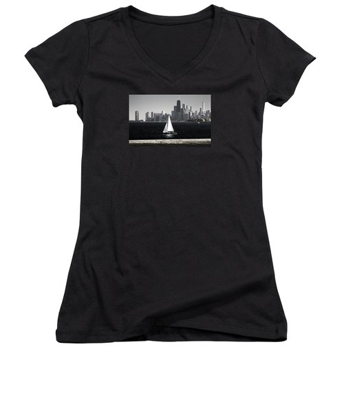 Women's V-Neck T-Shirt (Junior Cut) featuring the photograph Follow Your Dream by Milena Ilieva