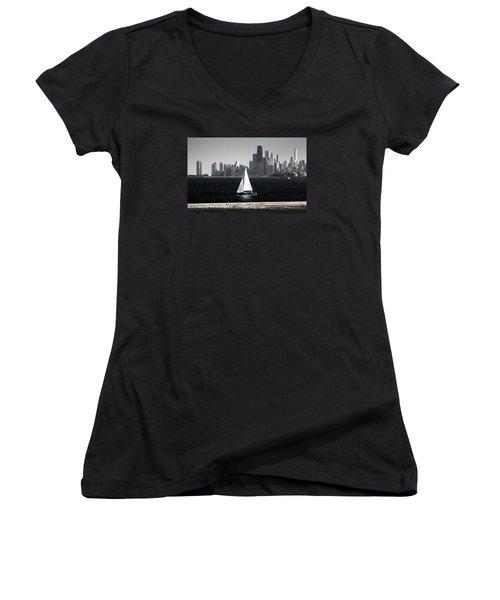 Follow Your Dream Women's V-Neck T-Shirt (Junior Cut) by Milena Ilieva
