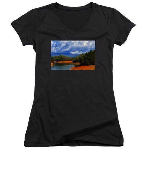 Fontana Lake Storm Women's V-Neck T-Shirt