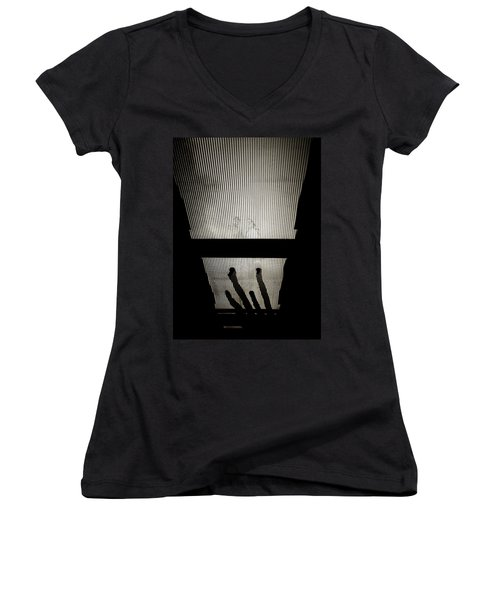 Footsteps And Faces Women's V-Neck