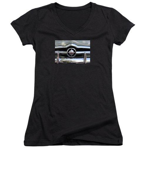 Ford V8 1949 - Vintage Women's V-Neck T-Shirt (Junior Cut) by The Art of Alice Terrill