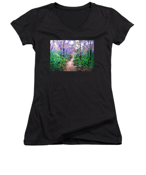 Forest Of Summer Women's V-Neck (Athletic Fit)