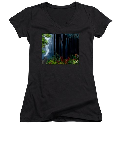 Forest Trail Women's V-Neck (Athletic Fit)