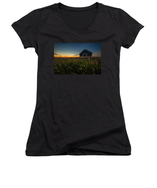 Forgotten On The Prairie Women's V-Neck