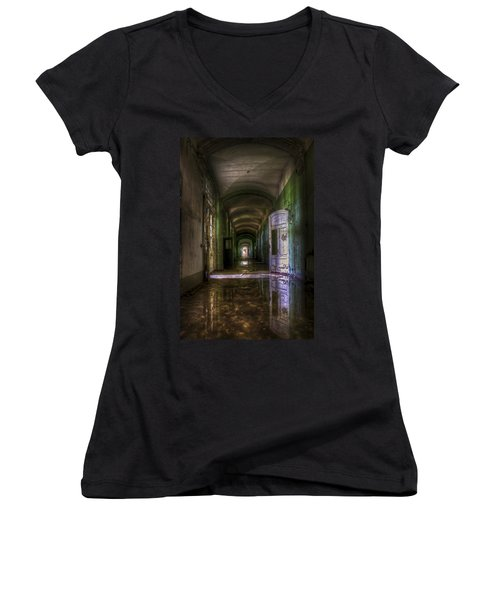 Forgotten Reflections Women's V-Neck T-Shirt (Junior Cut) by Nathan Wright
