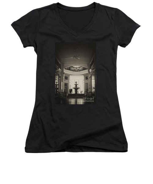 Fountain In The Light Women's V-Neck (Athletic Fit)