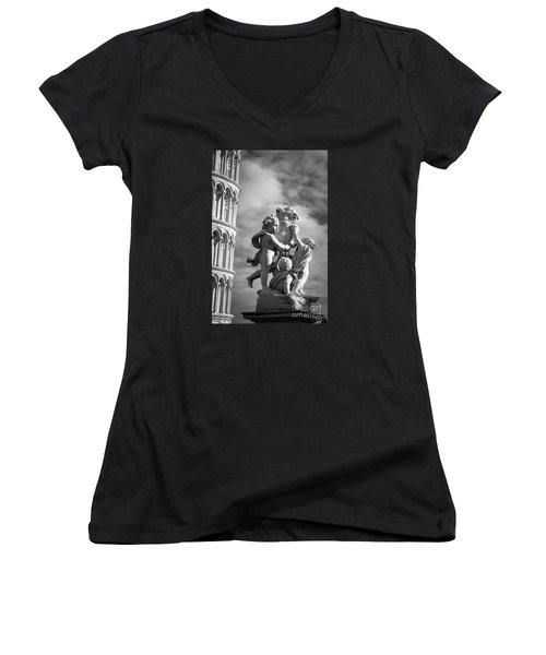 Fountain With Angels Women's V-Neck