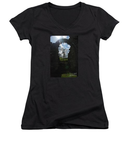 Fountains Abbey Women's V-Neck T-Shirt