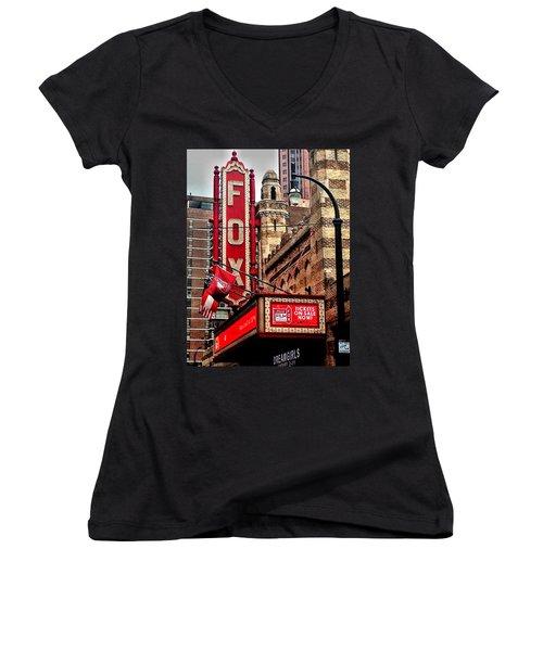 Fox Theater - Atlanta Women's V-Neck T-Shirt