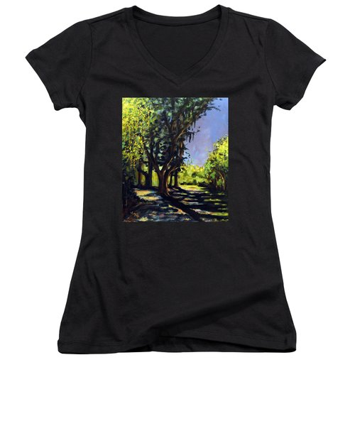 Foxgrapes And A Sandy Road Women's V-Neck (Athletic Fit)