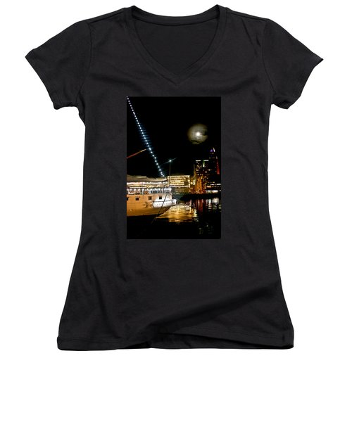 Women's V-Neck T-Shirt (Junior Cut) featuring the photograph Fragata  by Silvia Bruno
