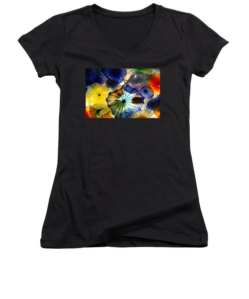 Fragile Flower Women's V-Neck T-Shirt